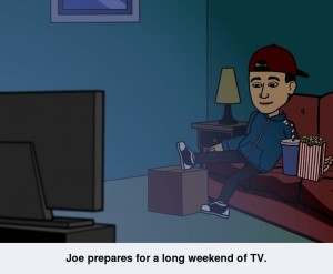 bitstrips joe TV scene