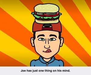 bitstrips joe hamburger head