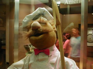 The Swedish Chef from The Muppets on display at the American History Museum.