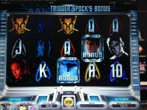 Star Trek online slot as featured in the Borgata online casino.