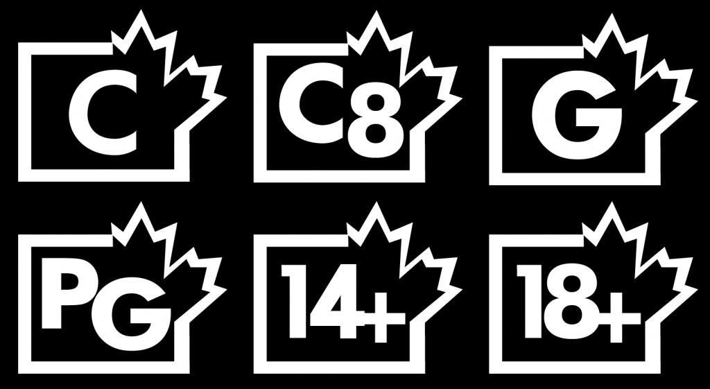 The simplified Canadian TV ratings system.