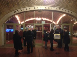 The main entrance to the Oyster Bar Restaurant in Grand Central Terminal, New York City