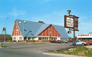 An International House of Pancakes restaurant, in S. Portland, Maine as pictured in the 1970's.