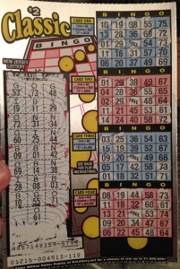 A New Jersey Lottery Bingo scratch off instant game ticket.