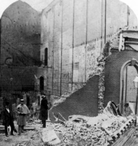 Brooklyn Theater after the fire and collapse.